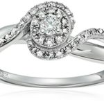 Sterling Silver Diamond Oval Halo Size 7 Engagement Ring Only $36 Shipped!