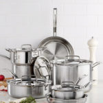 Cuisinart Multiclad Pro Tri-Ply Stainless Steel 12 Piece Cookware Set + 3-Piece Bakeware Set For Only $143.43 Shipped!