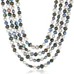 6-7mm 100″ Colored Baroque Freshwater Cultured Pearl Knotted Endless Necklace Only $30.65 w/ Free Shipping