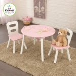 KidKraft Round Table and 2 Chair Set, White/Pink – Only $28.65 w/ Free Shipping!