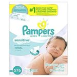 Case of Pampers Baby Wipes Sensitive Diaper Wipes Just $8.56-$9.57 + Free Shipping
