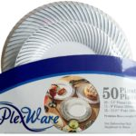 Pack of 50 Plexware Silver Swirl Plastic Plates For Just $18.99