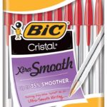 Pack of 10 BIC Cristal Xtra Smooth Ball Red Pens For $1.17