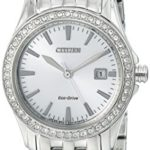 Citizen Eco-Drive Women's Silhouette Crystal Analog Display Silver Watch Just $99 Shipped