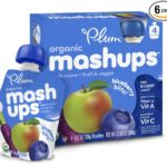 24 Plum Kids Organic Fruit and Veggie Mashups, Blueberry Blitz, 3.17 Ounce Pouches For Just $9.80 – $12.47 + Free Shipping