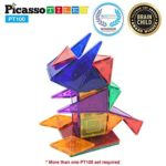 PicassoTiles 100 Piece Magnet Building Tiles Clear Magnetic 3D Building Blocks Set Only $46.49 Shipped!