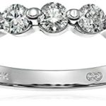 14k White Gold 5-Stone Shared-Prong Diamond Ring For Only $167 Shipped!! (Reg. $400+)