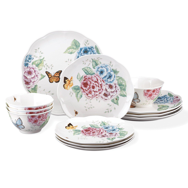Dinnerware hot deals dealsmaven lenox 12 piece butterfly meadow hydrangea set for just 7999 w free shipping reviewsmspy