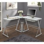 Glass Metal Corner Computer Desk Just $69.66 w/ Free Shipping