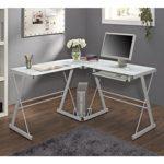 Glass Metal Corner Computer Desk Just $69.66 w/ Free Shipping