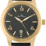 Lucien Piccard Men's Black Textured Dial Black Leather Watch For Only $23!!