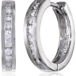 Today Only: 10k Gold Channel-Set Diamond Hoop Earrings For Only $229.99 w/ Free Shipping!