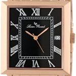 Lucien Piccard Men's Bianco Black Dial Rose Gold Ion-Plated Stainless Steel Watch Only $32.22!! (Reg. $100+)