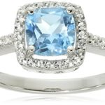 "Hallmark Jewelry ""Birthday"" Sterling Silver White Topaz Ring Only $18.10! (Reg. $99.99!)"
