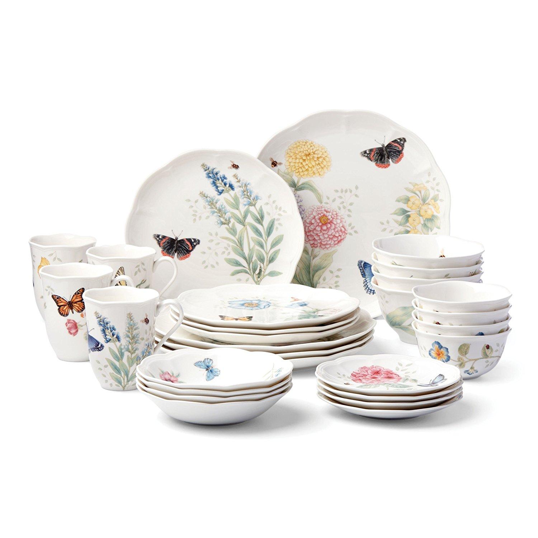 Dinnerware hot deals dealsmaven lenox 28 piece butterfly meadow classic dinnerware set for only 12597 shipped reviewsmspy