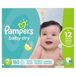 Case of Pampers Baby Dry Diapers in Size 2 or 5 For $19.59-$23.64 + Free Shipping