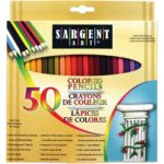 Sargent Art Premium Coloring Pencils, Pack of 50 Assorted Colors For Just $3.98