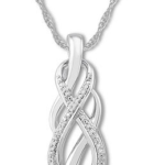 Diamond Infinity Sterling Silver Necklace w/ 18″ Chain For Just $20.99 From Kay Jewelers!