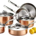 Lagostina 10-Piece Martellata Tri-ply Hammered Stainless Steel Copper Oven Safe Cookware Set Only $299 Shipped!!