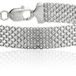 Today Only: Sterling Silver 12mm Italian Mesh Bracelet For $27.99 Shipped!