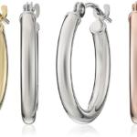 14k Gold Hoop Earrings (0.6″ Diameter) Only $22.94-$25!