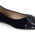 Tory Burch Chelsea Cap Toe Velvet Flats ONLY $116.76 Shipped!