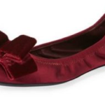 Tory Burch Viola Satin Bow Ballerina Flats For Just $148.40 w/ Free Shipping!