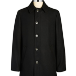 Lauren Ralph Lauren Black Single-Breasted Wool Blend Coat For Only $67.99!
