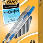Pack of 36 BIC Round Stic Grip Xtra Comfort Ball Pens Just $2.85