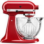 KitchenAid 5 qt. Stand Mixer with Glass Bowl & Flex Edge Beater Only $174.99 Shipped!