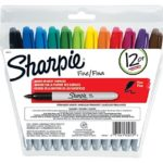 Pack of 12 Sharpie Permanent Markers, Assorted Colors For $3.92